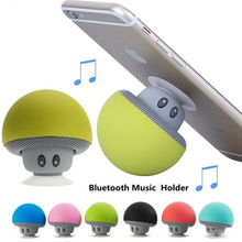 Universal Mini Mushroom Bluetooth Speaker Phone Holder For iPhone Samsung Huawei Soporte Speaker MP3 Player Stand Socket Support x5 unique tobacco pipe style bluetooth v2 1 2 channel speaker w stand for iphone white