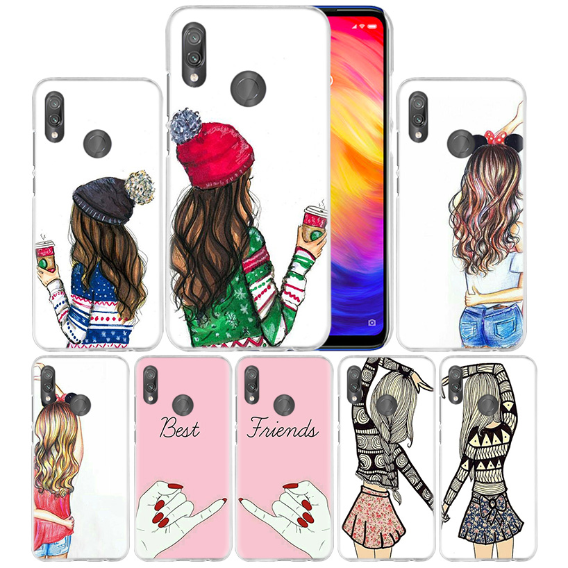 Best Friends Case for Xiaomi Redmi Go Note 7 6 6A Pro S2 5 5A 4X Mi A1 A2 9 Mix 3 5G 8 lite Play F1 Hard PC Fundas Phone Cover