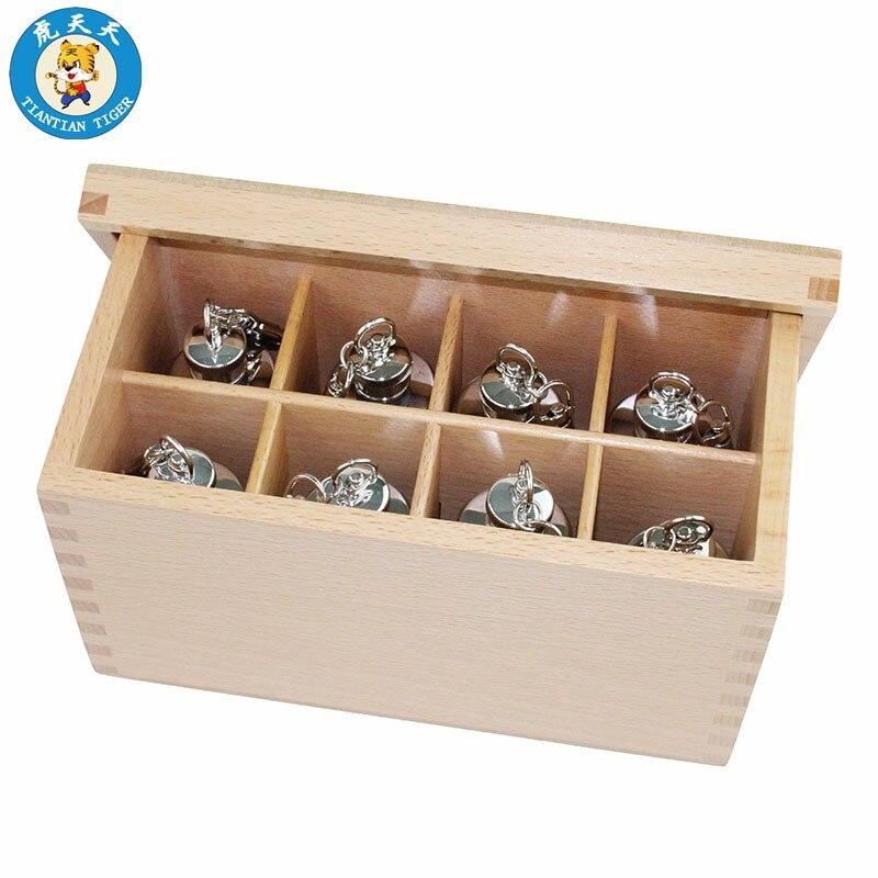 Montessori Bébé Sensorielle Jouets Enfants Éducation Précoce de Formation Préscolaire Jouets Bouteilles Thermiques 4 Paires Avec la Boîte