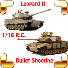 New Coming Gift COLLIDE German Leopard 2 Bullet Shooting Tank 18 CH 1/18 RC Radio Control Large Toy Tanks Electric Battle Force
