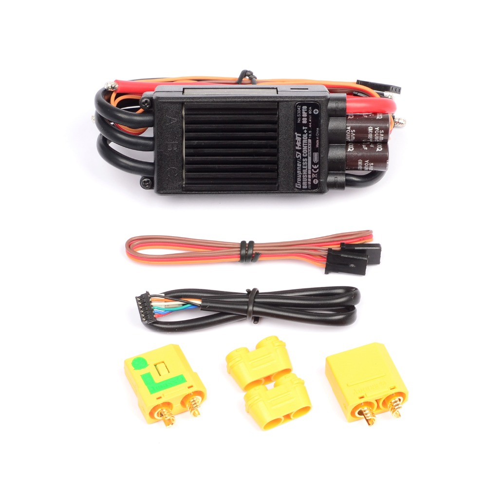 Graupner Brushless Control + T 80A HV ESC OPTO Telemetry