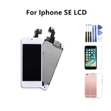 Grade AAA LCD For iphone SE  Display Touch Screen Digitizer Full Replacement Assembly Pantalla+Button+Camera With Free Gifts aaa lcd display screen touch digitizer glass front lens frame for iphone5s assembly replacement pantalla free shipping