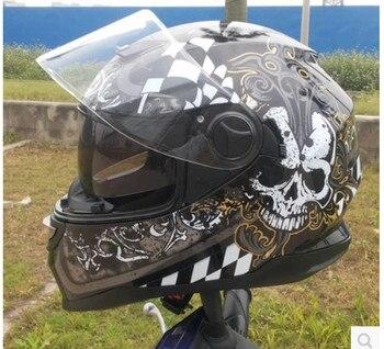 2015 new full-face helmet ARAI run double lens helmet motorcycle helmet stunning color skull free shipping