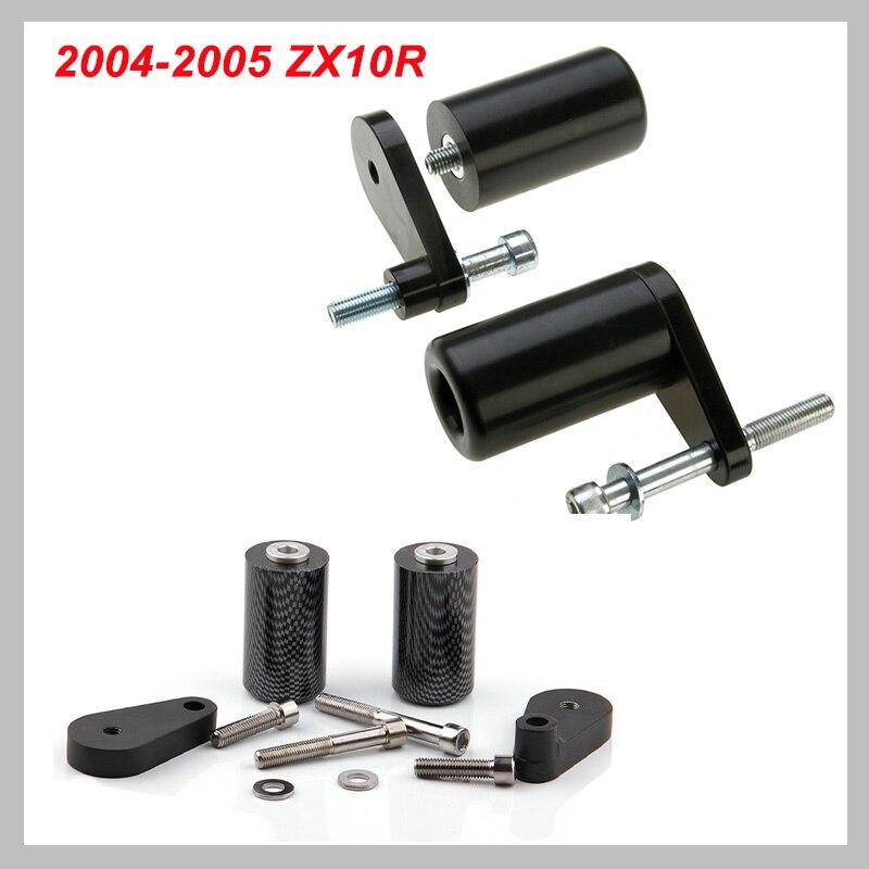 No Cut Frame Slider Crash Protector For 2004 2005 Kawasaki Zx10R Zx-10R Carbon