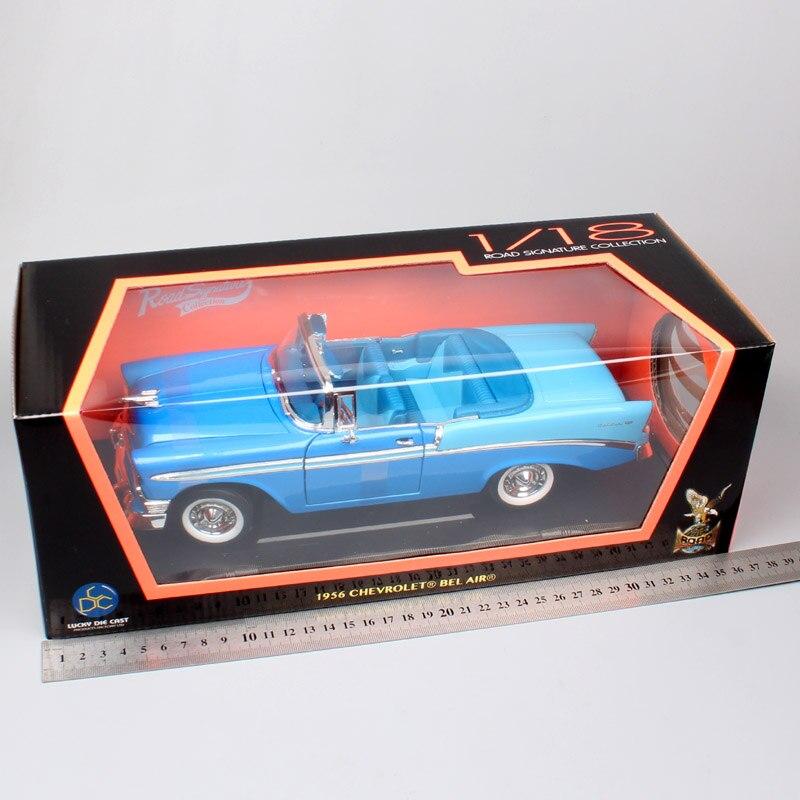 1:18 clásicos de la firma de la carretera chevy 1956 CHEVROLET BEL Diecasts y vehículos de juguete modelo de coches escala miniatura de la colección de adultos-in Troquelado y vehículos de juguete from Juguetes y pasatiempos    3