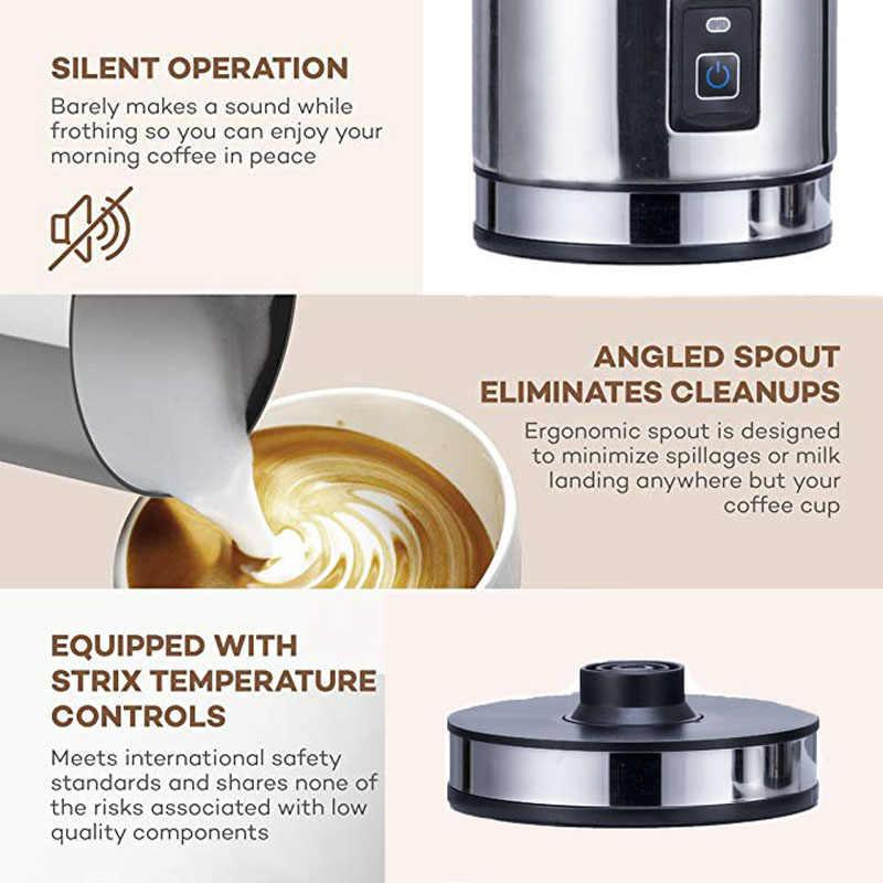 3 Função Automática de Aço inoxidável Leite Frother Foamer Café Recipiente de Espuma Macia Café Frother Cappuccino Maker Elétrica