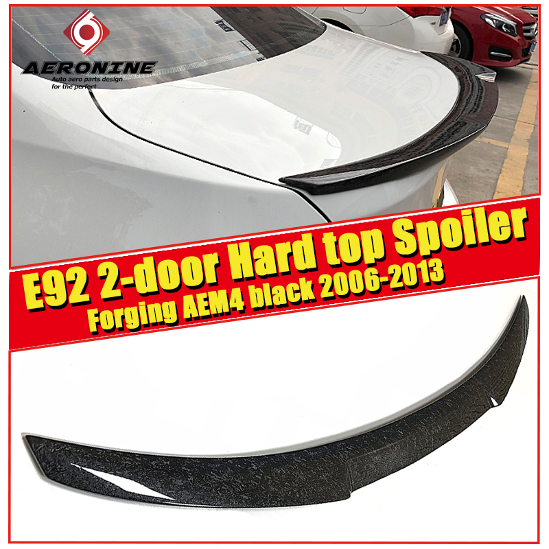 E92 2 door Hard top M4 Style Car Styling Forging Carbon Auto Trunk Rear Spoiler Lip Wing For BMW 325i 330i Trunk Spoiler 2006 13 in Spoilers Wings from Automobiles Motorcycles