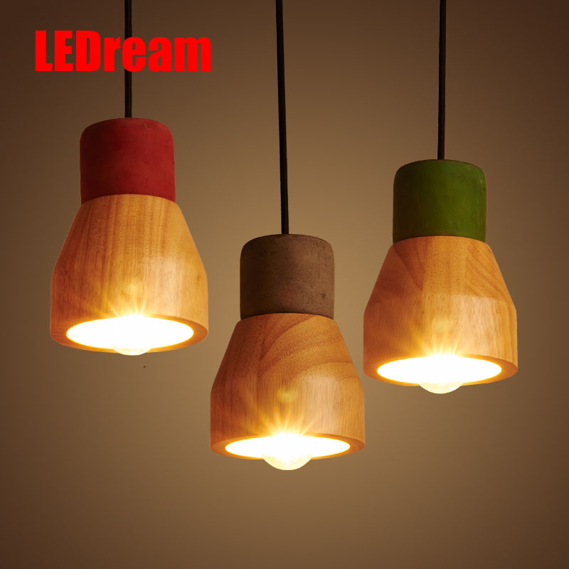 Light industry wind restaurant small pendant bar  contemporary creative personality of the head of a bed of wood cement head ароматизатор aroma wind 002 a