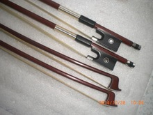 3 PCs Octagonal Brazil wood Violin Bow 4/4 with abalone shell frog Ebony frog white hair