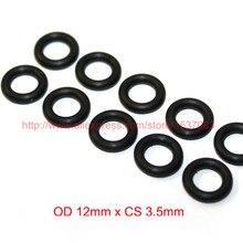 OD12mm*CS3.5mm black NBR nitrile o ring o-ring oring sealing rubber cord 70 shore a