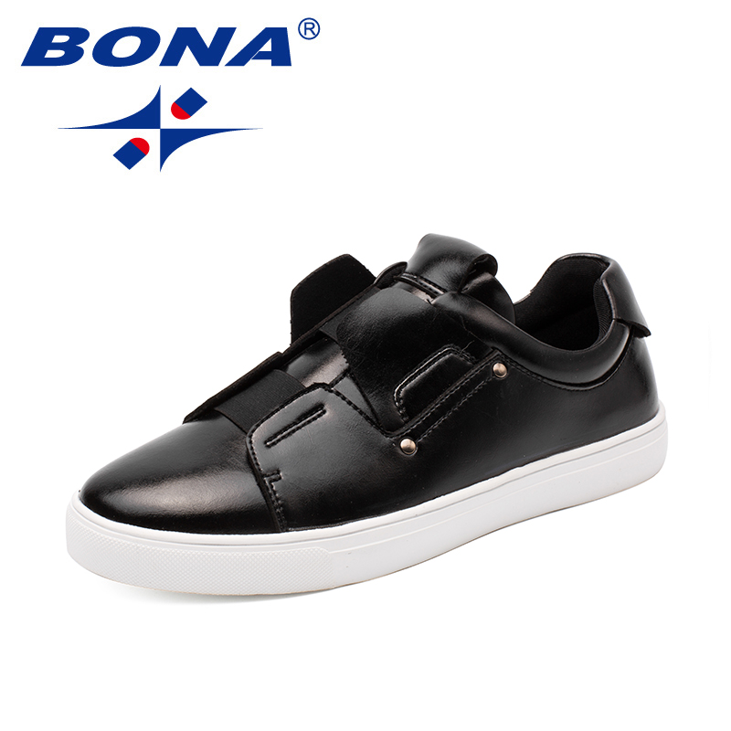 BONA New Arrival Classics Style Men Casual Shoes Elastic Band Men Fashion Sneakers Shoes Microfiber Men Loafers Free Shipping