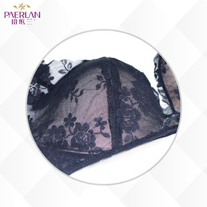 Image 4 - PAERLAN Liền Mạch Dây Giá Rẻ Viền Ren Hoa Ngực Đẩy Lên Màu Đen Áo Ngực Sâu V Gợi Cảm Kéo Móc Và Mắt bộ Ngực Lưng Đóng Cửa Quần Lót Nữ