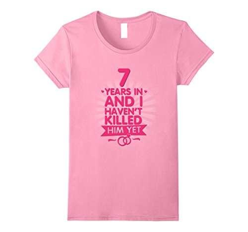 Anniversario Di Matrimonio 7 Anni.7 Anni Di Matrimonio T Shirt 7th Regalo Di Anniversario Per La