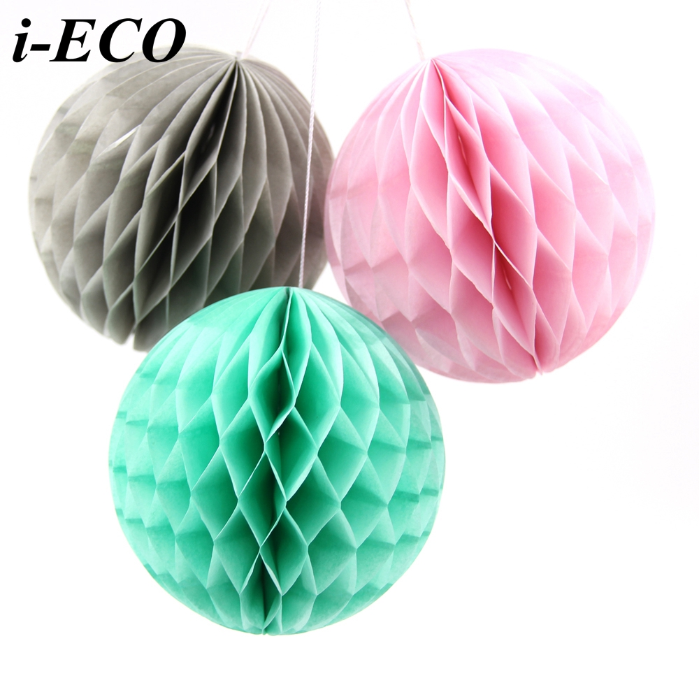 5PCS 6inch DIY Tissue Paper Lantern Honeycomb Ball Paper ...