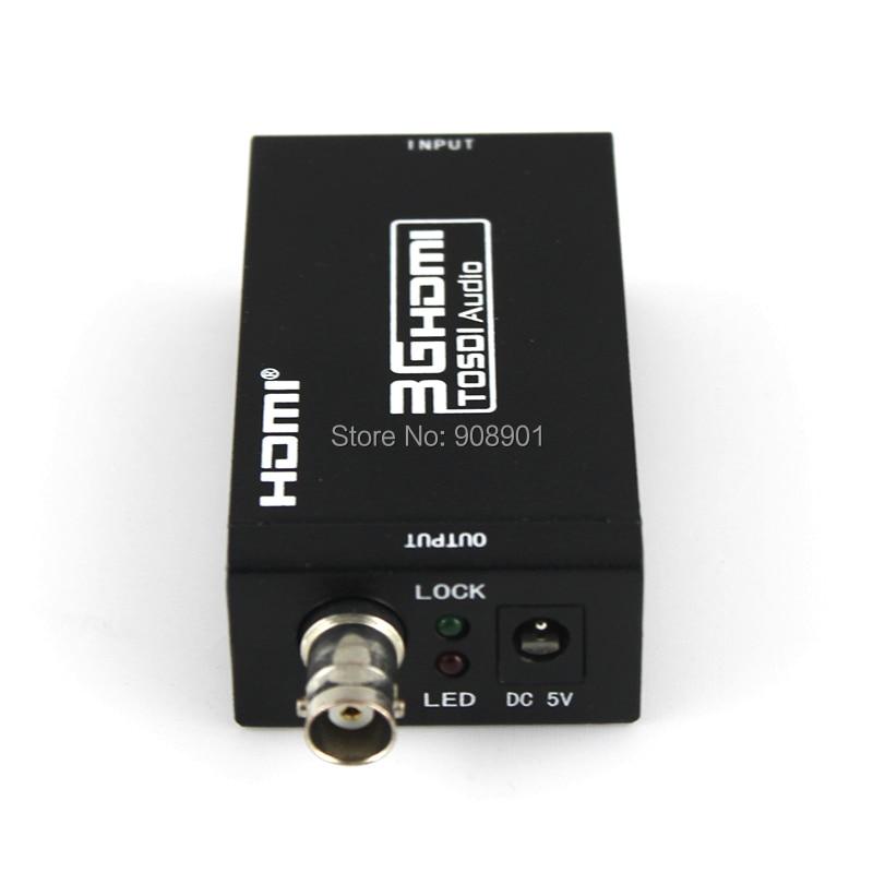 1 Teile/los Mini Hdmi Zu Sdi Video/audio Konverter Sd-sdi/hd-sdi/3g-sdi Unterstützung 720 P/1080 P, Freies Verschiffen