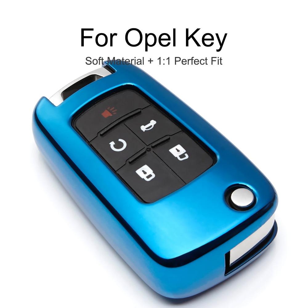 KUKAKEY 6 Colors TPU Car Key Cover Case For Opel Corsa Astra Insignia Mokka Vectra Meriva Key Bag Shell Holder Keyring Keychain