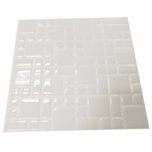 Wall kitchen Peel and stick Mosaic Tiles in Subway White 10 pack