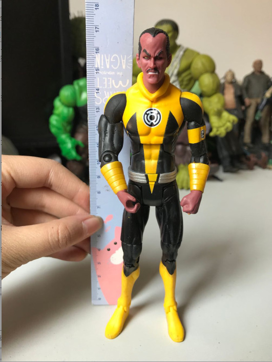 Original Garage Kit Classic Toy 6'' DC Heros: Yellow Lantern Corps Action Figure Collectible Model Loose Toy