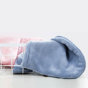 Image 3 - Xiaomi Mijia Women Bathroom Super Absorbent Quick drying Polyester with Cotton Bath Towel Hair Dry Cap Salon Towel 24x64cm