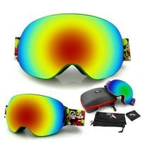 BHWYFC Brand Professional Ski Goggles Anti Fog Double Lens UV400 Men Women Ski Goggle Ski Snowboard Eyewear