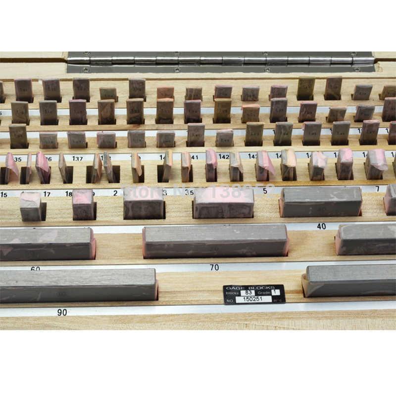 High Precision Block Gauge Set 83pcs//set 0 Grade 0.5-100mm