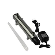 Ультрафиолетового обеззараживания УФ лампа для воды стерилизатор 220 В 12 Вт 1GMP с 304 Нержавеющаясталь UV-1.0G