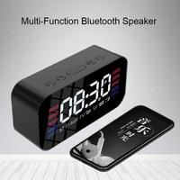 fm tf Bluetooth Portable Wireless Speaker Super Bass Music Mirror Sound Box Time Snooze Alarm Clock Support TF Card FM Radio Aux Input (1)