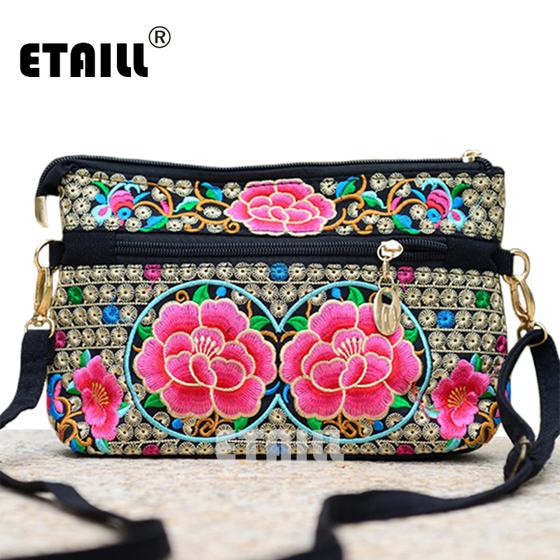 3c63fe3760 2016 Hmong Boho Embroidered Floral Bags Women Shoulder Bag Ethnic Chinese  Style Famous Brand Logo Messenger Bags Sac a Dos Femme-in Top-Handle Bags  from ...