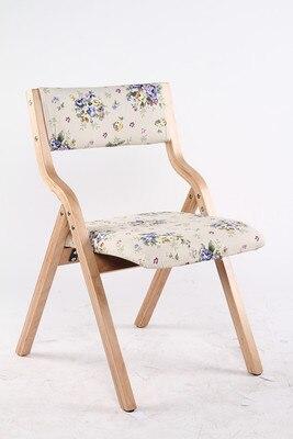 Bar Stool Hotel Mess Hall Chair Chair Folding Model Wood Frame Cloth Seat