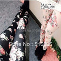 free shipping high quality New leggings for women Vintage leggings rose flower leggings tight trousers