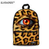 ELVISWORDS Eyes Printing Backpack Schoolbag For Teenager Girls Satchel Rucksack Brand Machila Fashion Women Canvas Men