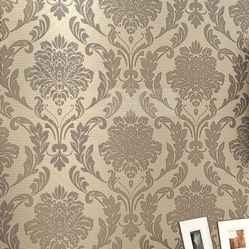 Damask floral wallpapers luxury wall paper roll europe - Papel vintage pared ...
