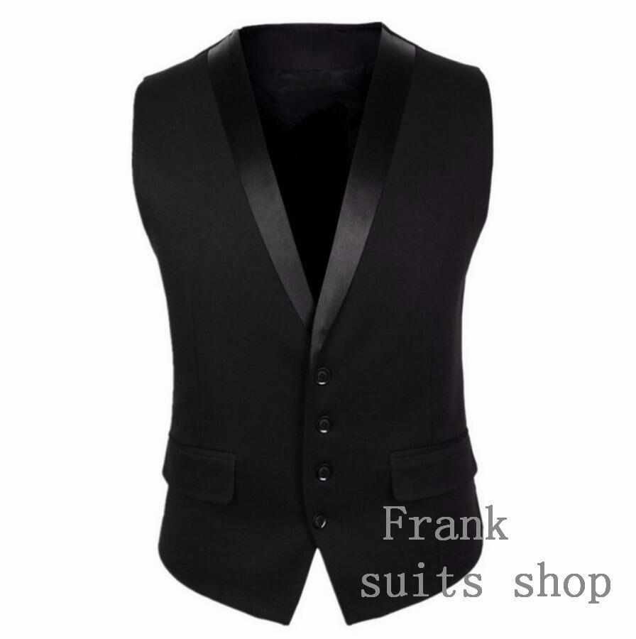 Nice Winter Spring Classic Black Suit Vest For Men