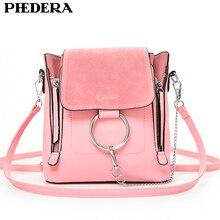 PHEDERA Marke Sommer Mode Weibliche Umhängetasche Hohe Qualität PU Leder Ketten Frauen Messenger Taschen Rosa Mädchen Crossbody Taschen