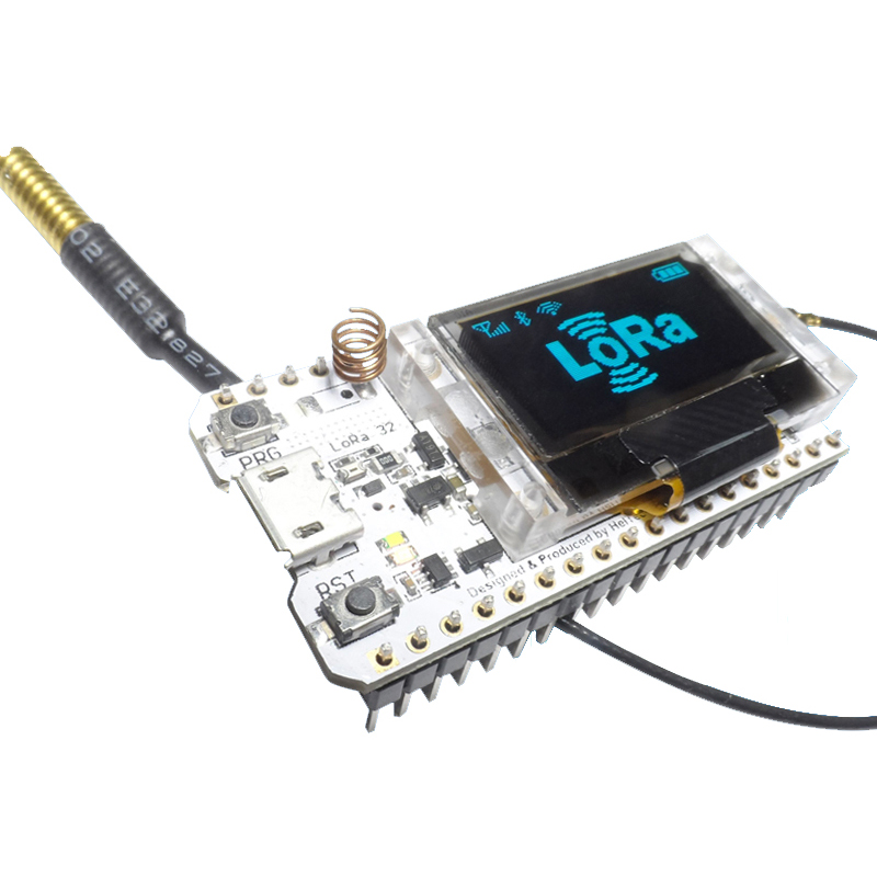 2 pi/èces LORA32 868Mhz ESP32 OLED 0,96 Pouces Bleu /écran Bluetooth WiFi ESP32 d/éveloppement Conseil Module avec antenne Ils