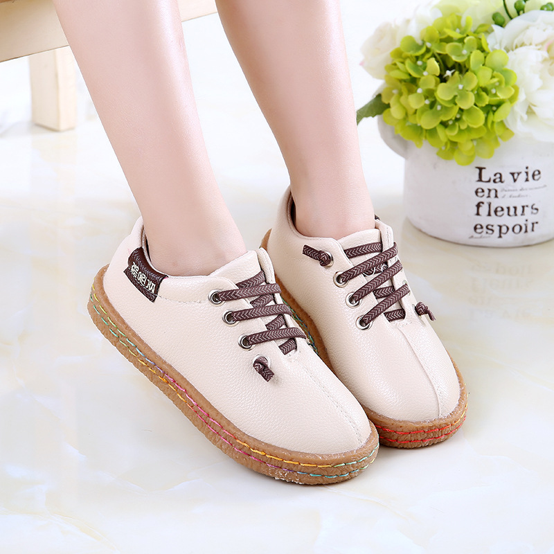 2017 New Designer casual kids shoes cow muscle soft bottom for girls boys Casual Shoes Kids Sneaker High Quality sandals