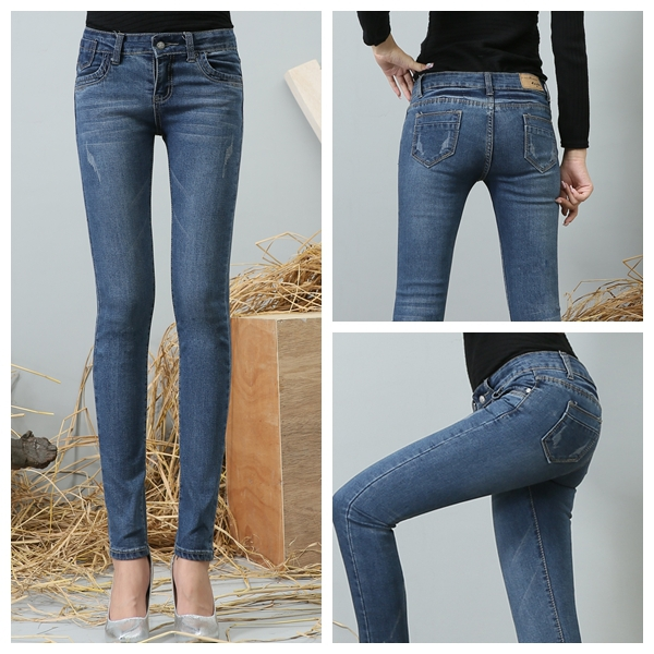 Fashion Womens Jeans Casual Jeans The Pop World Women -6758