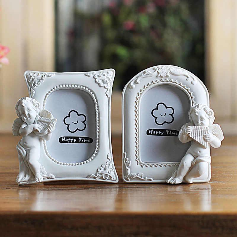 Resin White Photo Frames for Picture,Europe Style Baby Photo Frame Desktop Decoration,Family Picture Frame Mini Wedding Photos
