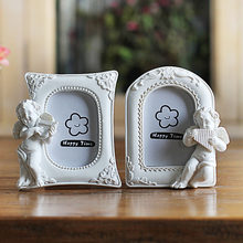 Resin White Photo Frames for Picture,Europe Style Baby Photo Frame Desktop Decoration,Family Picture Frame Mini Wedding Photos(China)