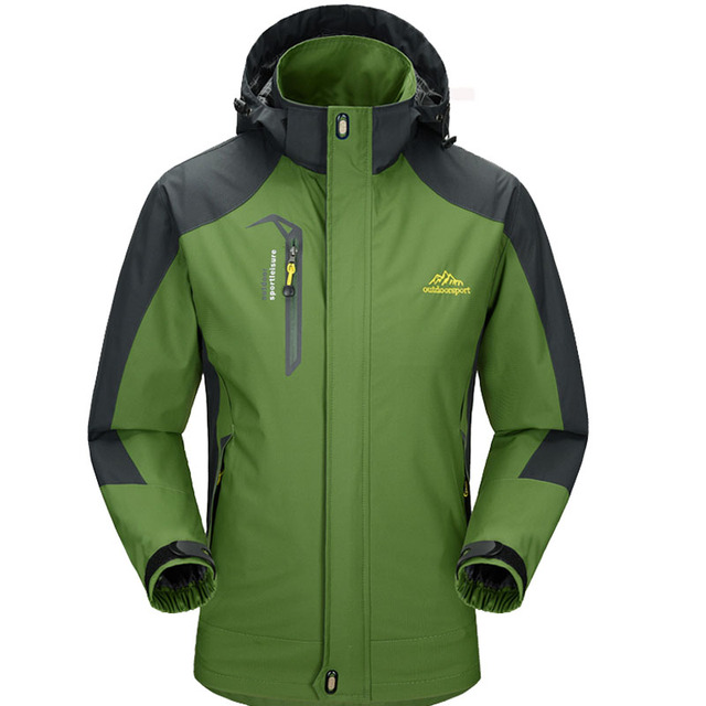 2018 New Spring Autumn Mens Softshell Hiking Jackets Male Outdoor Camping Trekking Climbing Coat For Waterproof Windproof VA002 2