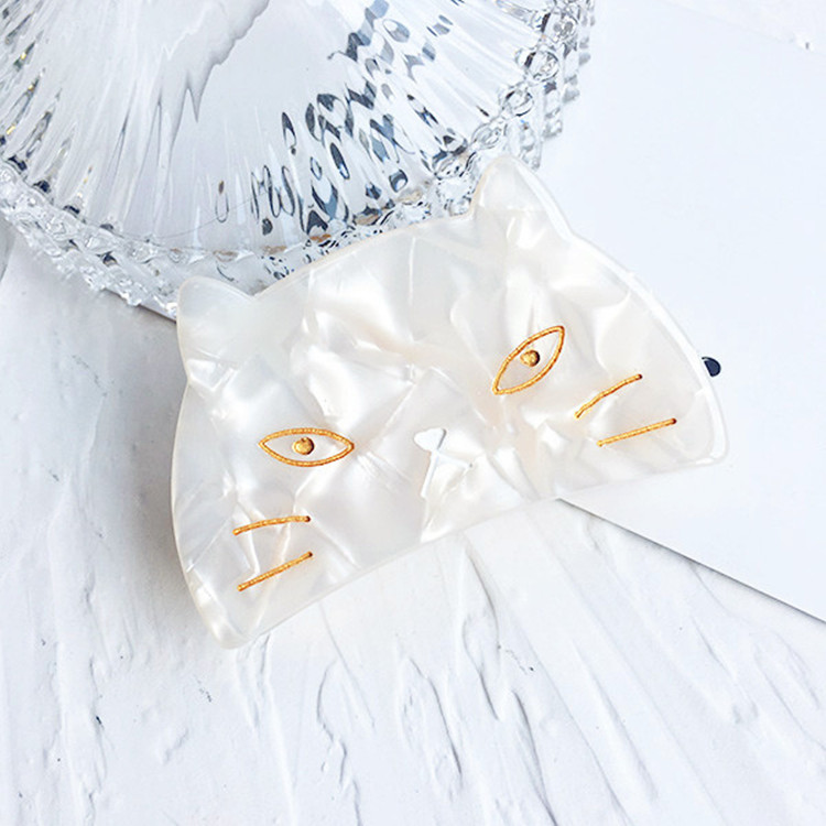 New Acetic acid cat crab hair claw clips For women girl headwear Ponytail holder accessories festival gift Crabs Jewelry 3