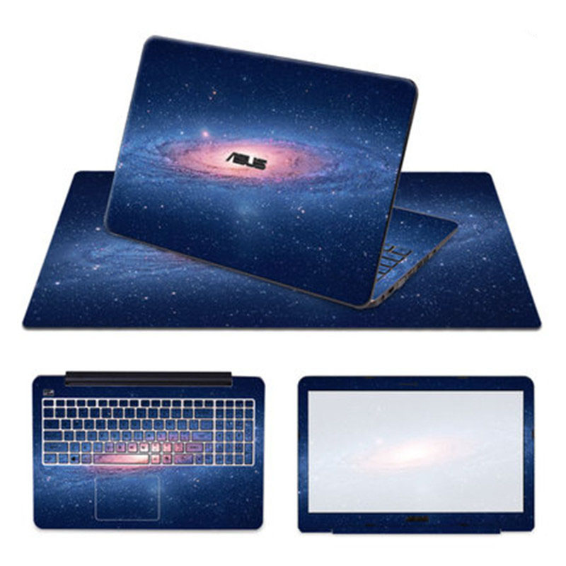 Laptop Skin for ASUS A555 15.6 inch 3 Sides Notebook Sticker Fashion Protection Decal with 570*330mm Mouse Pad Mice Mat