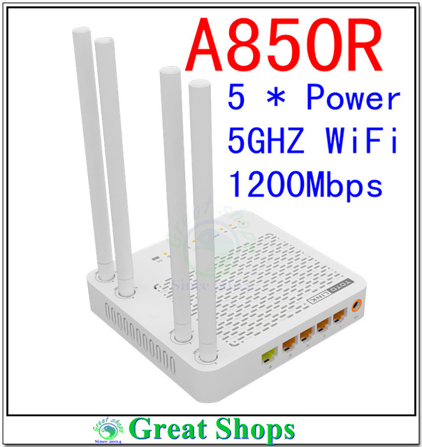 Totolink a850r 11ac roteador wireless 1200 mbps 5 ghz 2.4 ghz Wieless Dual Band Router wi-fi de alta potência pk a2004ns idioma inglês