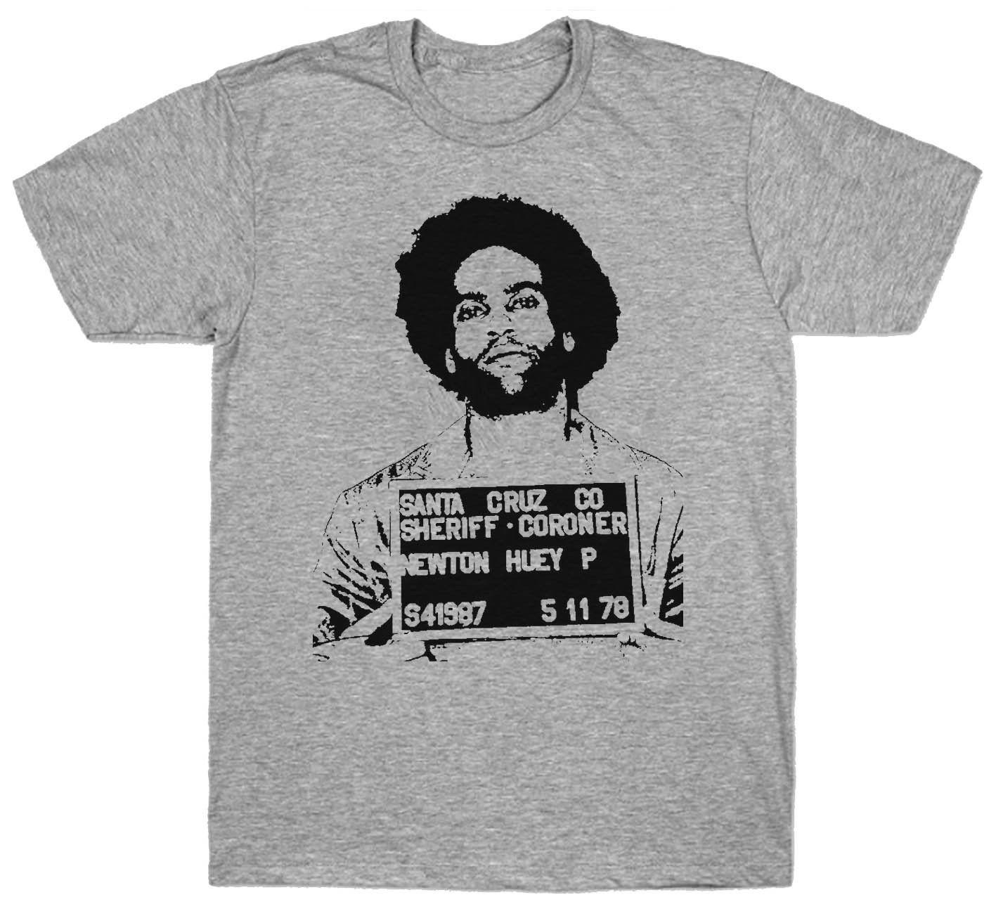 Huey P Newton Mugshot T Shirt Political Activist 1960 S Black Panther Party