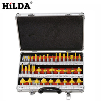 HILDA 35Pcs Set Milling Cutter Bits Cutting Tools Drill Bit Woodworking Router Bits Shank Router Bits