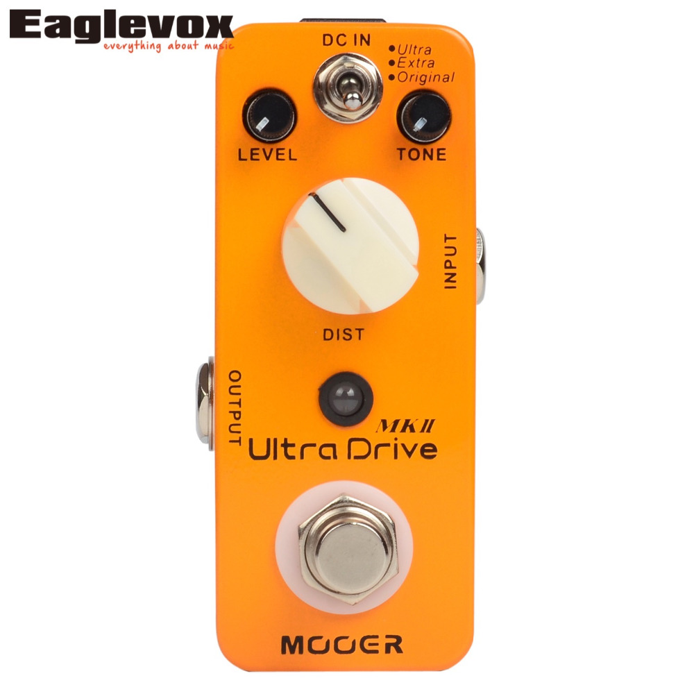 Mooer Ultra Drive MKII distortion Effects Electric Guitar Effect Pedal True bypass MDS6 mooer hustle drive distortion guitar effect pedal micro pedal true bypass effects with free connector and footswitch topper
