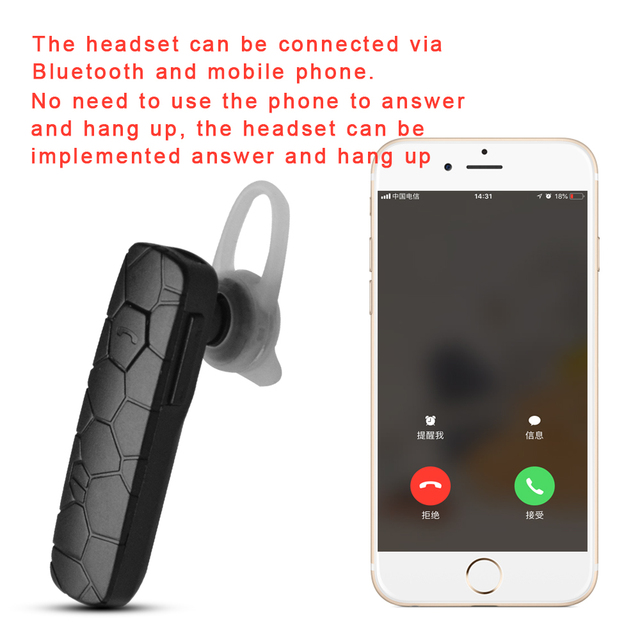 US $0 66 60% OFF|Newest SGA10 Bluetooth 4 1 Headset Wireless Earphone with  Microphone Volume Adjustable for iPhone Xiaomi Android Phone iPad -in