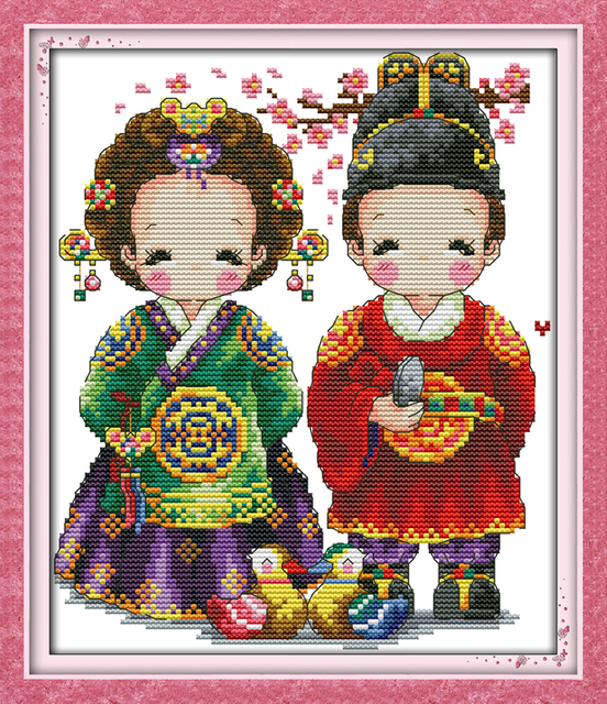 Корейские наборы для вышивки