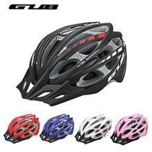 GUB Integrally-molded Bicycle Cycling Helmet Visor Men Women MTB Mountain Road Bike Helmet 57-61cm 30 Vents Bike Accessories gub k70 mountain bike cycling helmet black