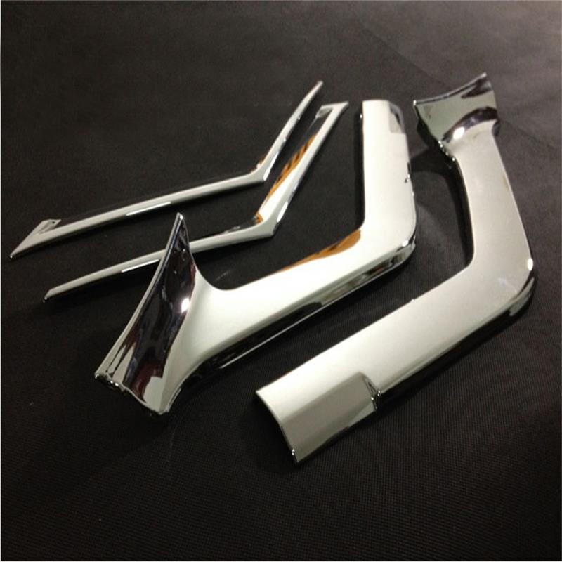 ABS Chrome Front Grille Grill Cover Trim for 2014 2015 2016 Nissan X-Trail T32 X Trail XTrail Rogue Car Styling Accessories 4pcs abs chrome side door body protection molding trim cover for nissan x trail x trial rogue t32 2014 2015 car styling accessories